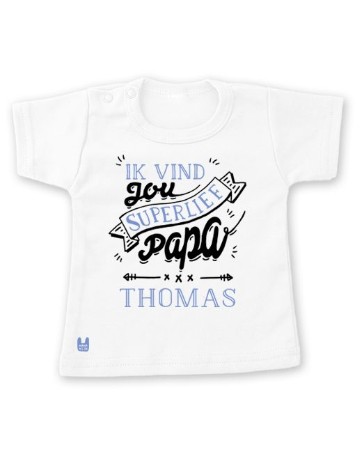t-shirt-liefste-papa-blauw